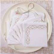 Serenk - Gold Oval Frame Cocktail Napkin Set 6pc
