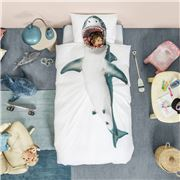 Snurk - Shark Quilt Cover Single Set 2pce
