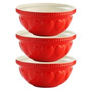 Mason Cash - Hearts Mixing Bowl Red 29cm/4L Set 3pce
