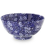 Burleigh - Blue Calico Medium Footed Bowl 20.5cm