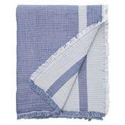 Lexington - Double Faced Bedspread Blue/White 260x240cm