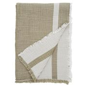 Lexington - Double Faced Bedspread Olive/White 160x240cm