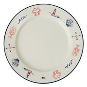 Lexington - Blue Sea Serving Plate White 35cm