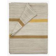 Lexington - Striped Cotton Bedspread Yellow 160x240cm