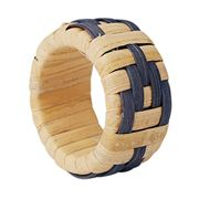 Lexington - Wicker Napkin Ring Blue