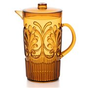 Flair Decor - Acrylic Scollop Des Pitcher Amber