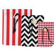 Bag All - Gift Bag Pack Red/Black 3pce