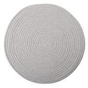 Coastal Home - Demi Cotton Placemat Round Grey & White 38cm