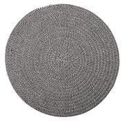 Coastal Home - Demi Cotton Placemat Round Black & White 38cm