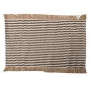Coastal Home - Jai Cotton Jute Placemat Black/White 33x48cm