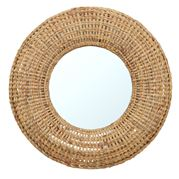 Coastal Home - Hoda Hyacinth Round Mirror Natural 98cm