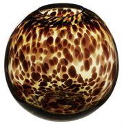 Coastal Home - Lexie Leopard Glass Round Vase 18x16cm