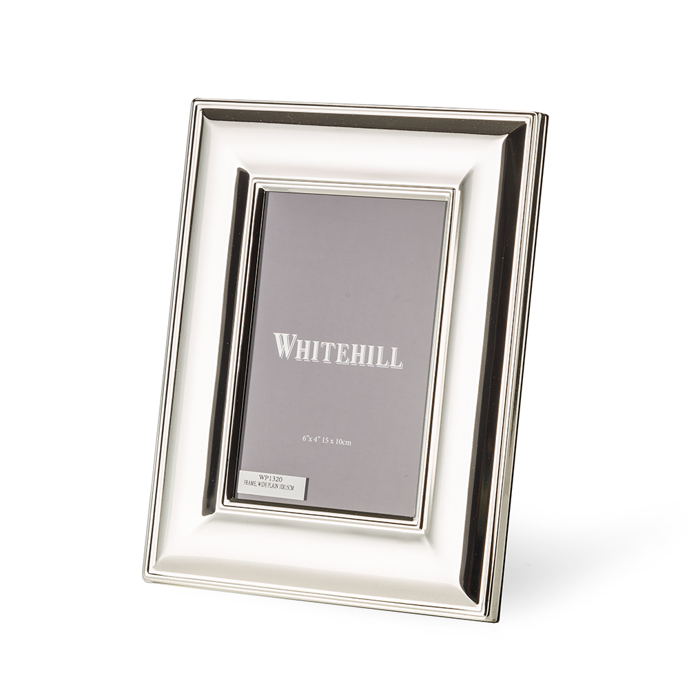 Whitehill - Silver Plated Frame Wide Plain 10x15cm   Peter\'s of ...