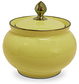 Limoges - Legle Pastel Yellow Sugar Bowl
