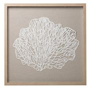 Coastal Home - Cambria Coral Wall Art Nat / White 60x60cm