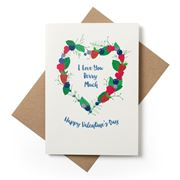 Candle Bark - Berry Heart Valentine's Day Card