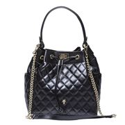 Marlafiji - Lulu Black Quilted Leather Duffel Bag