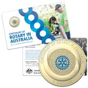RA Mint - Centenary Of Rotary 2021 $1 Col. Uncirculated Coin