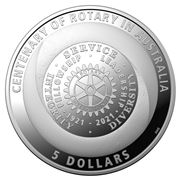 RA Mint - 2021 $5 Silver Proof Coin Centenary of Rotary