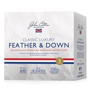 John Cotton - C/Luxury White Duck Feather/Down Duvet Single