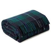 Creswick - Fringed Rug Tartan Green Douglas