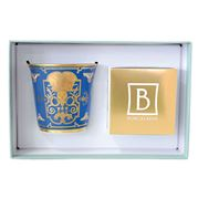 Bernardaud - Aux Rois Blue Tumbler Candle