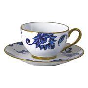 Bernardaud - Prince Blue Tea Cup & Saucer 130ml