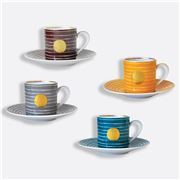 Bernardaud - Aboro Coffee Cup & Saucer Set 4pce