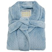 A.Trends - Cosy Luxe Waffle Bath Robe Dusty Blue