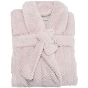 A.Trends - Cosy Luxe Waffle Bath Robe Pink