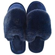A.Trends - Cosy Luxe Slippers Medium/Large Midnight