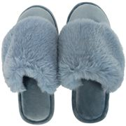 A.Trends - Cosy Luxe Slippers Small/Medium Dusty Blue
