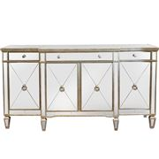 Dasch - Mirrored Sideboard Antiqued Ribbed