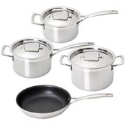 Le Creuset - 3Ply Stainless Steel Cookware Set 4pce