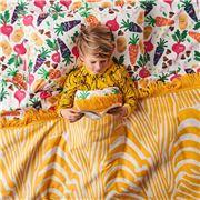 Kip & Co - Vegie Patch Cotton Flat Sheet Single