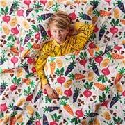 Kip & Co - Vegie Patch Cotton Flat Sheet King Single