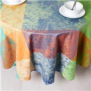 Garnier-Thiebaut - Tablecloth Mille Jardin Round 175cm