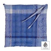 Garnier-Thiebaut - Mille Wax Chair Cushion Ocean 38x38cm
