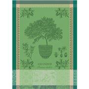 Garnier-Thiebaut - Amandier En Pot Tea Towel Vert 56x77cm