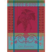 Garnier-Thiebaut - Les Raisins Tea Towel Lie De Vin 56x77cm