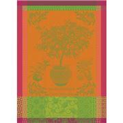 Garnier-Thiebaut - Tea Towel Mandarinier En Pot 56x77cm