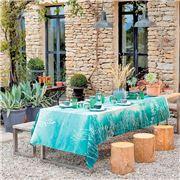 Garnier-Thiebaut - Silhouettes Tablecloth Indigo 155x225cm