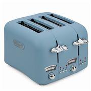 DeLonghi - Argento Flora Four Slice Toaster CT04 Blue