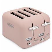 DeLonghi - Argento Flora Four Slice Toaster CT04 Pink