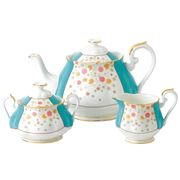 Royal Albert - 100 Years 1930 Mint Deco Teapot Set 3pce