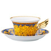 Rosenthal - Versace 25 Years Floralia Blue Teacup & Saucer