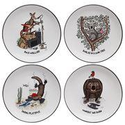 Squidinki - Australian Animals Canape Plate Set 4pce