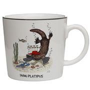 Squidinki - Rock Wallaby & Diving Platypus Porcelain Mug