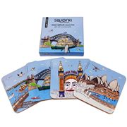 Squidinki - Sydney Harbour Coasters Set 4pce