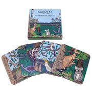 Squidinki - Australian Wildlife Coasters Set 4pce